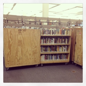 books on carts (library on the move)