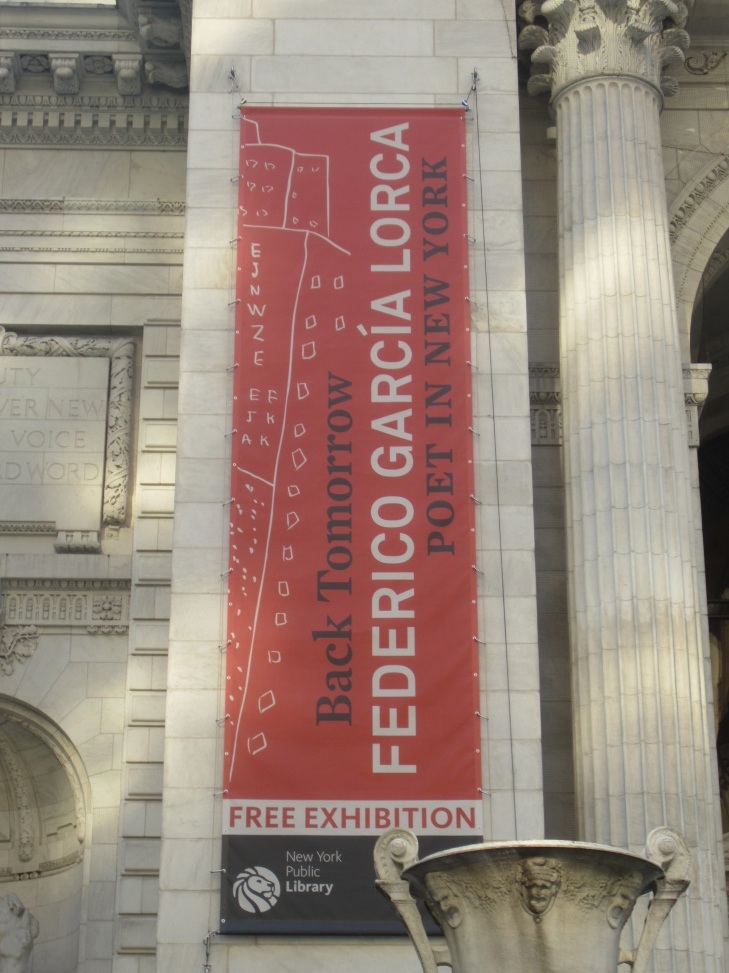 federico garcia lorca exhibit at NYPL