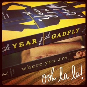 the year of the gadfly and where you are
