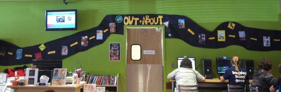 Out + About: Road Trip Teen Library Display