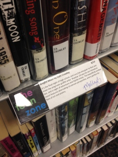shelf talker for Graffiti Moon by Cath Crowley