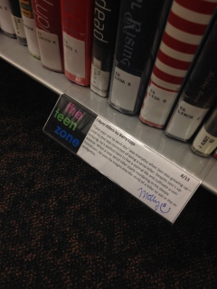 shelf talker for I Hunt Killers by Barry Lyga