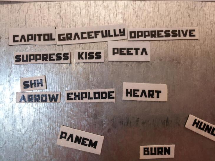 hunger games magnetic poetry