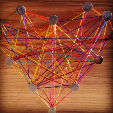 string art valentines