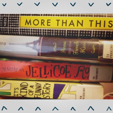 March to-read pile from library