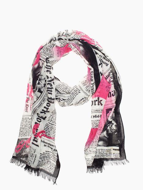 kate spade newspaper scarf