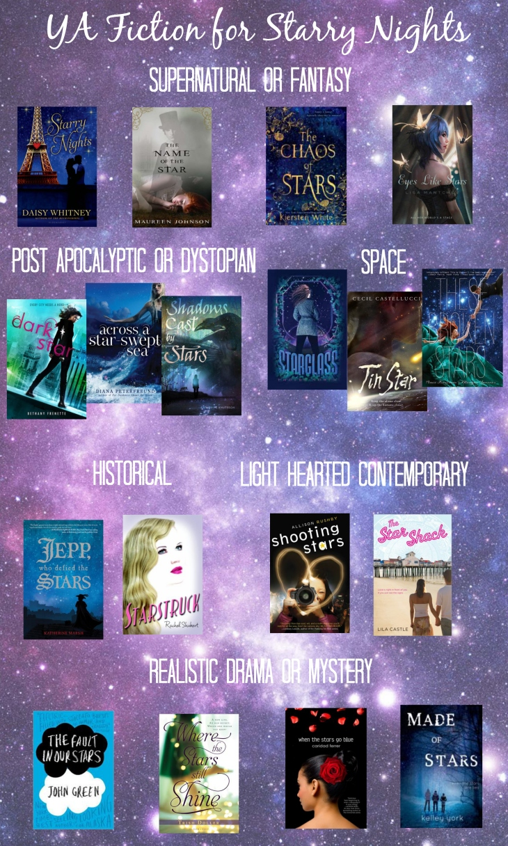 "lit of young adult books with ""star"" in the title"