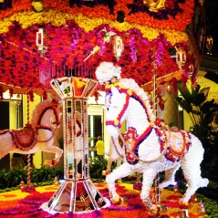 Wynn carousel of flowers