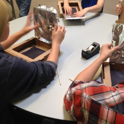 smores solar powered ovens STEM library program   wrapped up in books
