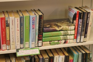 breaking up books on shelves | wrapped up in books