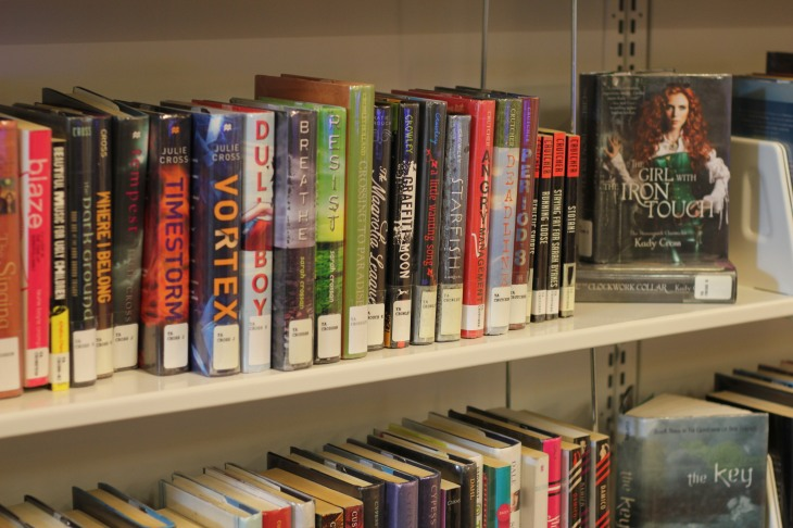shelving with visual interest